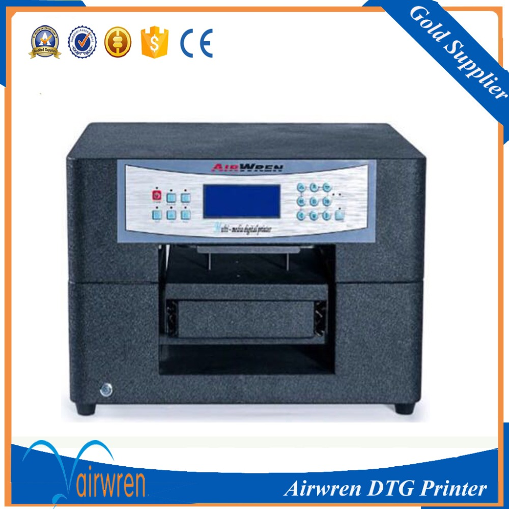 Best quality digital flatbed t-shirt printing machine a4 size dtg printer for sale digital textile t shirt printer automatic canvas printing machine for sale