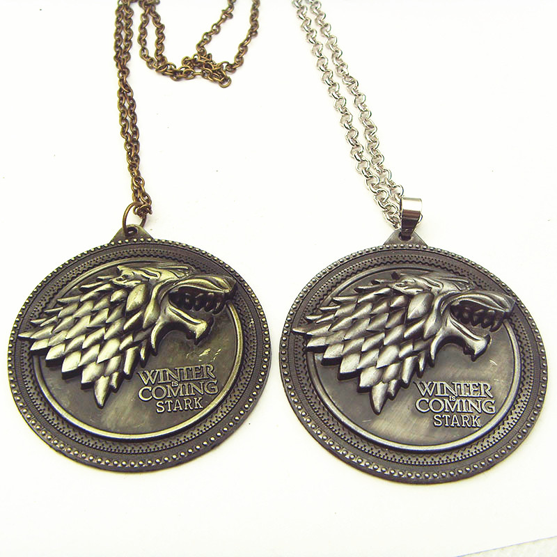 of thrones house stark necklace winter