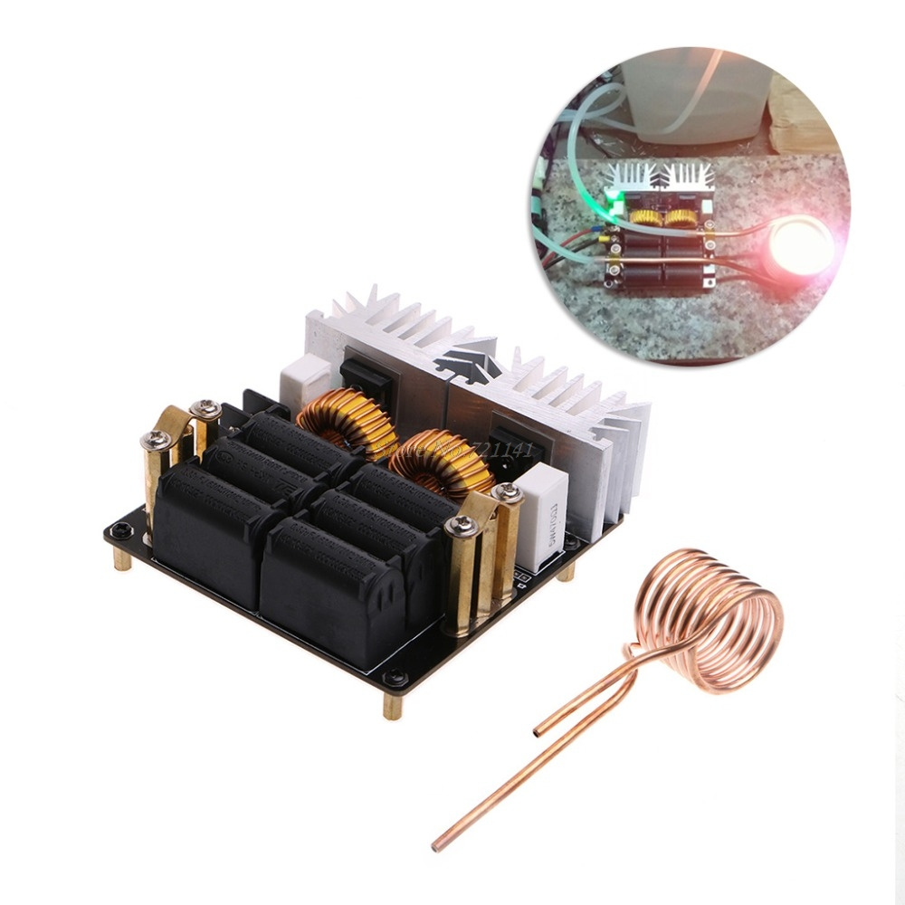 1set 20a 1000w 12v 48v Zvs Low Zero Voltage Induction Heating Board With Simple Heater Together Circuit Module Diy Heatings