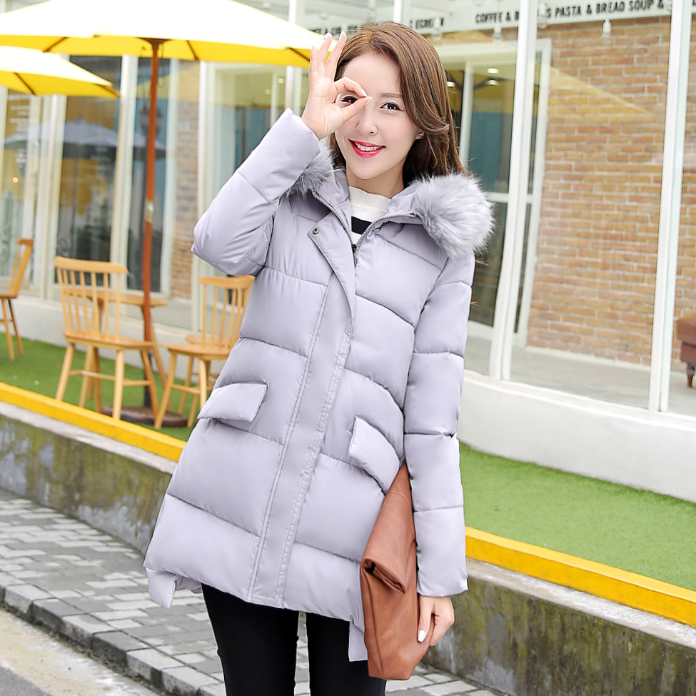 ФОТО Fashion Women Coat Thick Warm Lady Jacket With Dovetail Winter Dow Coat Women Jacket Zipper Outerwear