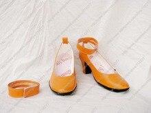 Бесплатная доставка пользовательские дешевые оранжевый сейлор венера обувь из сейлор мун косплей рождество