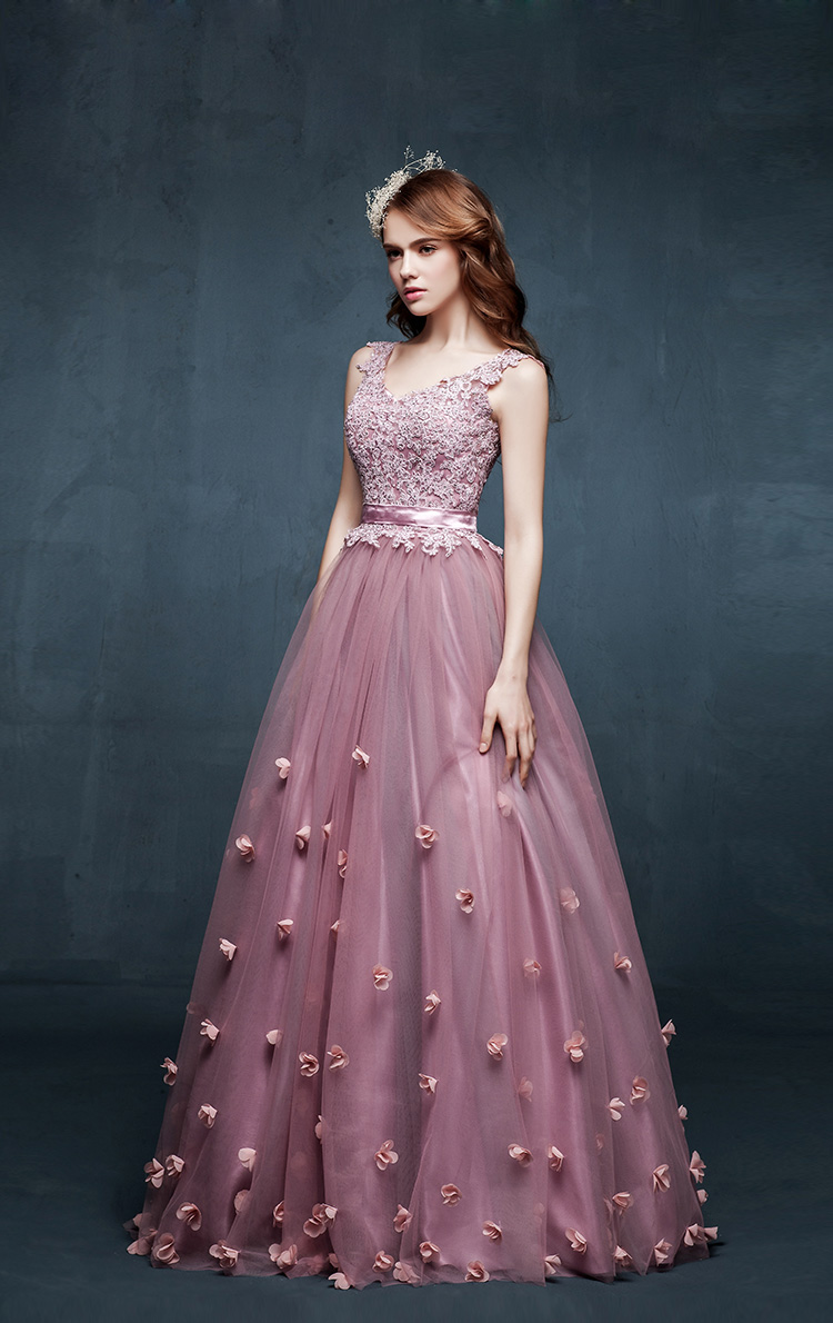 2015 Free Shipping Simple Lovely Ball Gown Lavender/Lilac ...