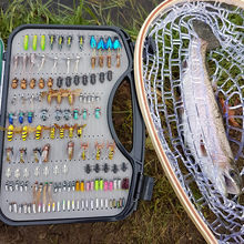 Ultra Fly Fishing flies Set 200pcs Dry Wet Nymph fly lure  kit fishing box for carp trout pike fishing