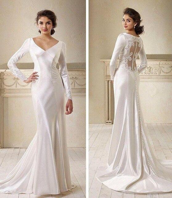 vestido de noiva vestido de novia 2017 nuevo satén de crepe y de