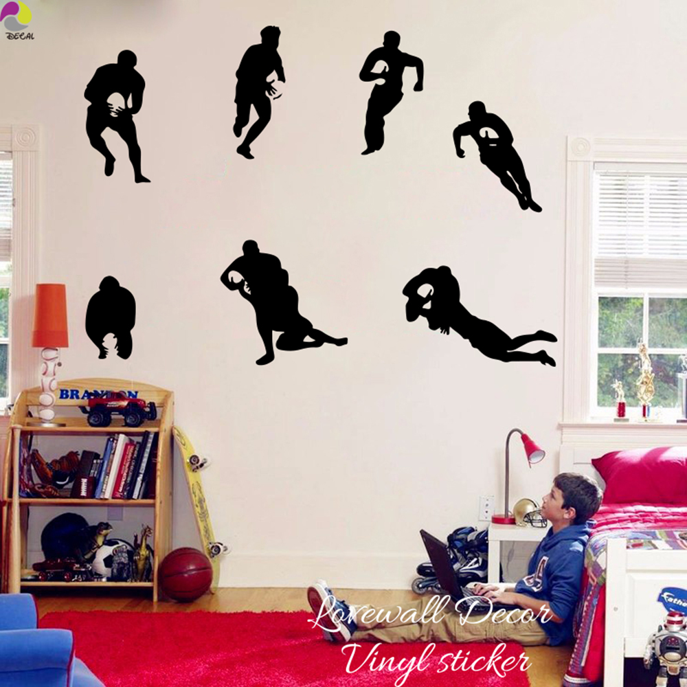 LIFE IS SIMPLE Rugby Game Player Ball Wall Art Decal Sticker Picture Decorate