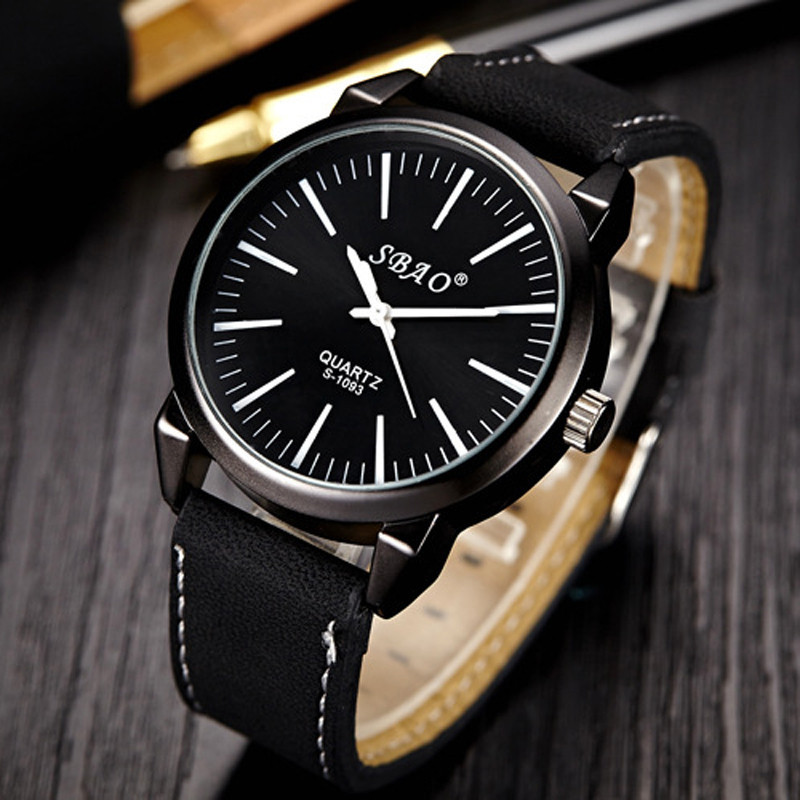 Dress Simple Casual Watch Brand Mens Watches Sports Stainless Steel Dial Saat Leather Strap Quartz Wrist Watch Reloj Hombre fashion casual quartz watch for men oversize stainless steel case leather strap simple analog dial reloj hombre montre homme