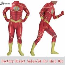 Halloween Costumes The Flash Jumpsuits Adults Kids Men Fancy Zentai Spandex Magical Boys