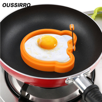 1 PCS Portable Food Grade Silica Gel animal shape fried egg mould high temperature resistant microwave oven