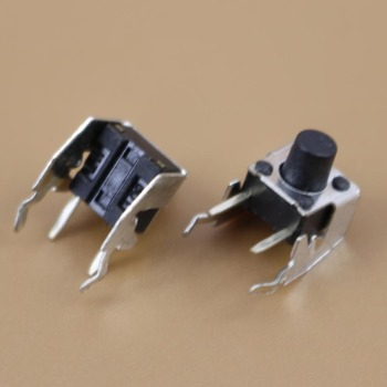 YuXi 1pcs/lot Tact Switch 6x6x7 mm right angle through hole 4 pins tactile light push button switches Rohs Reach image