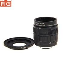 Fujian 35 มิลลิเมตร F1.7 กล้องวงจรปิดกล้องเลนส์ + เลนส์อะแดปเตอร์แหวน C FX Mount สำหรับ Fuji Fujifilm X E2 X E1 X Pro1 X M1 /T1