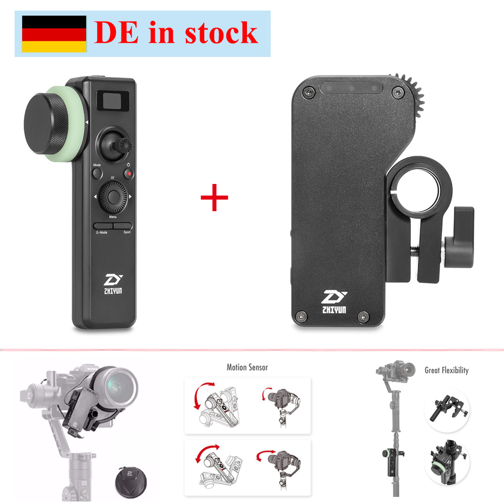 (can ship from Germany) Zhiyun Crane 2 Servo Follow Focus w/ 2.4GHz Motion Sensor Remote Control for Canon Nikon etc.all Cameras стедикам zhiyun crane 2 v3 servo follow focus