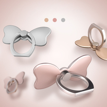 Butterfly Pop 360 Degree Rotation Zinc Alloy Universal Cell Phone Ring Stand Socket with Adhesive Finger Ring Holder