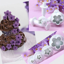 4pcs/set DIY Flower Cake Mold Pastry Tools For Baking Fondant Cake Mould Baking Forms For Cookies Cutter Mold  1571