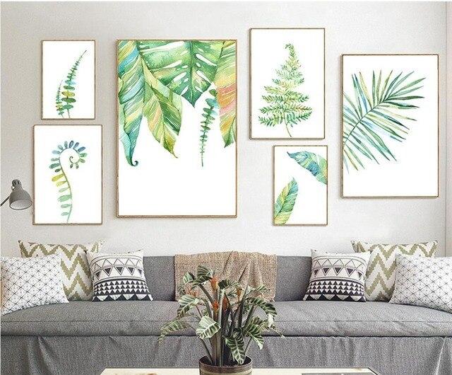 Leaf canvaskunst poster muur foto voor huisdecoratie giclee muur