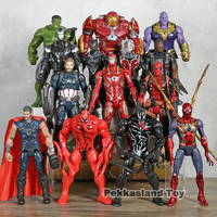 Marvel Avengers Venom Carnage Spiderman Thanos Thor Deadpool Hulkbuster Iron Man Black Panther Action Figure Model Doll Gifts