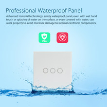 Interruptor de luz de pared Wifi inteligente NEO Coolcam 3 Gang Touch/WiFi remoto Smart Home Interruptor táctil soporte Alexa ¡google casa IFTTT(China)