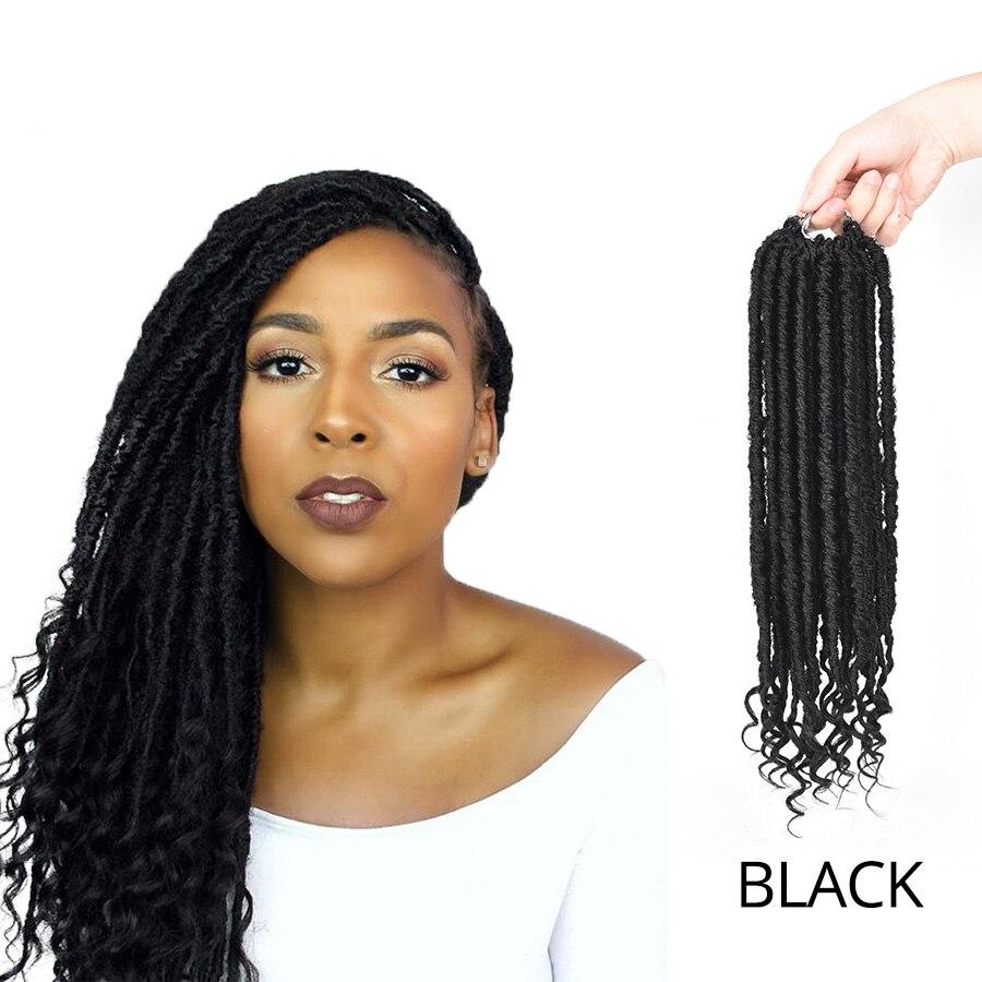 leeons black/blonde 16 inch kanekalon braiding hair faux locs crochet hair  goddess hairstyles synthetic braiding hair extensions