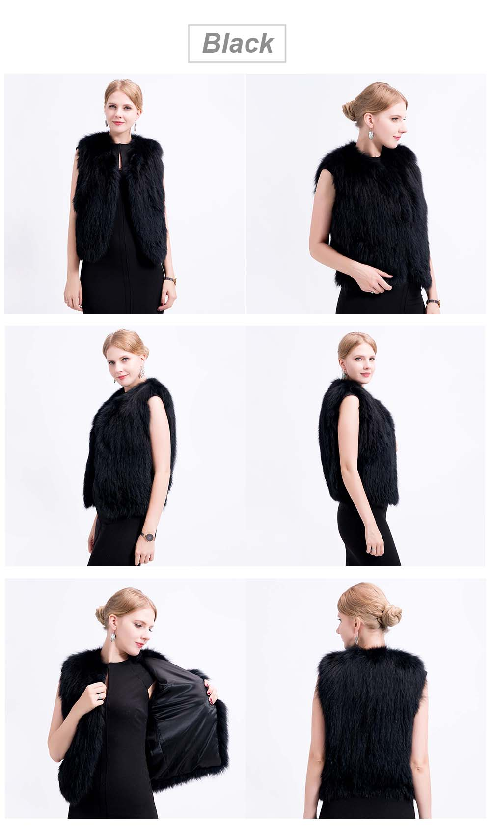 shorter knit fox vest color 1