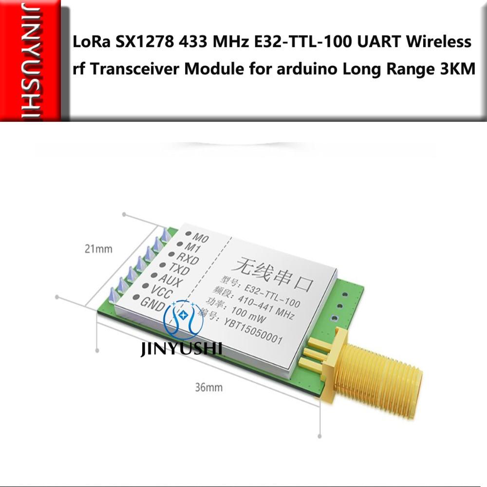 LoRa SX1278/SX1276 433MHz E32-TTL-100  Wireless Rf Module Iot Transceiver  UART  Rf Transmitter Receiver Long Range 3KM 20dBm