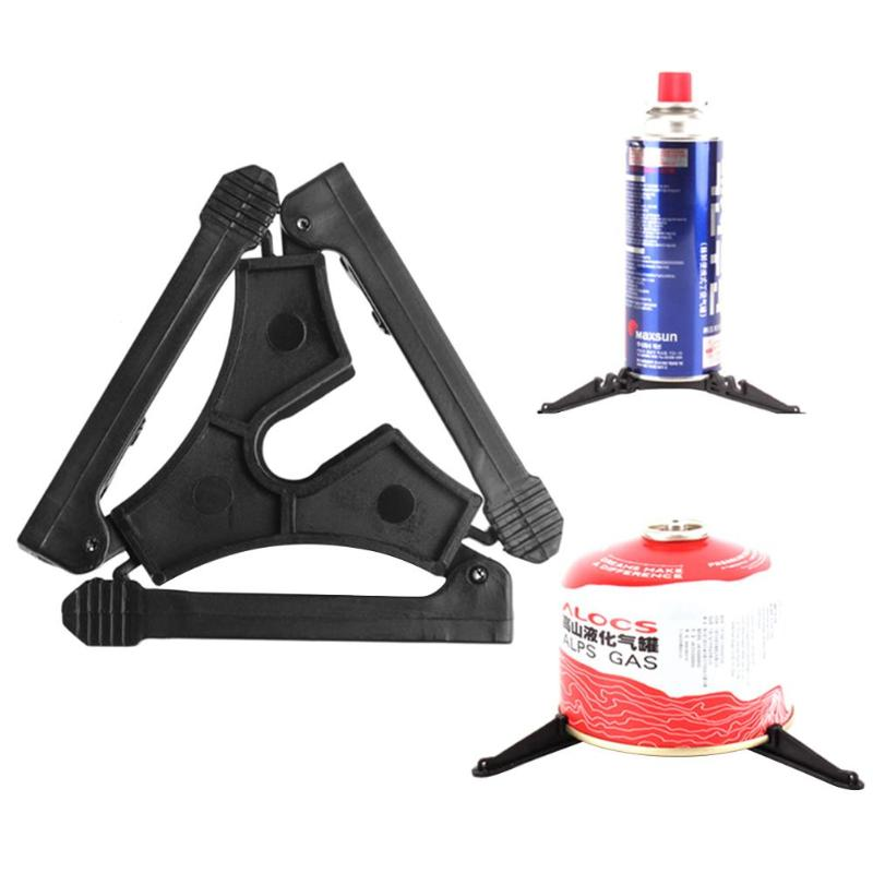 Plastic Folding Outdoor Camping Gas Tank Bracket Bottle Shelf Canister Stand Tripod Hiking Cooking Hiking Outdoor Stoves Tool
