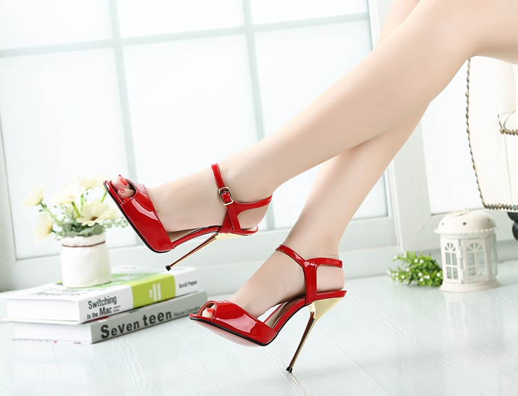 Plus BIG SIZE 40-50 Brand New Sexy  Red Peep Toe Planting thin high heel Pumps/Fashion women party wedding sandals Free shipping new arrivals women sandals fashion high quality high heel ankle open toe sexy double buckle thin heel wedding shoes big size 10