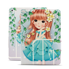 For Funda iPad Air Case Beautiful Cartoon Women PU Leather-based Case Silicon Extremely Slim Again Cowl for iPad Air 2 Case