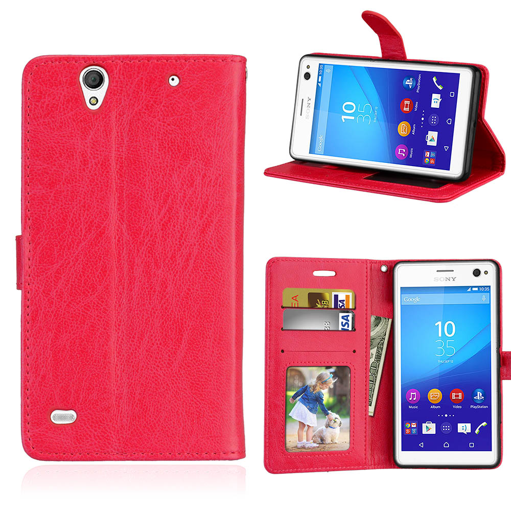 for Sony Xperia C4 E5303 E5306 E5353 case phone case for Sony Xperia C4 cover leather filp case wallet case business style
