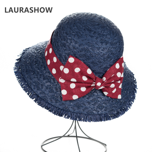 LAURASHOW Summer Spring Women Wide Large Brim Floppy Summer Straw Kids Sun  Hat Baby Cap 08de4f6bd13