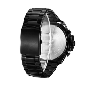 Image 2 - Cagarny Mens קוורץ שעון יד יוקרה ספורט שעוני יד עמיד למים שחור נירוסטה זכר שעונים שעון צבאי Relogio Masculino