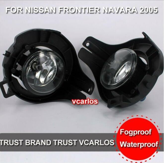 ФОТО Hireno Car DRL Waterproof ABS 12V Daytime Running Lights for NISSAN PATHFINDER XTERRA 2004~2009 Fog lamp 2PCS