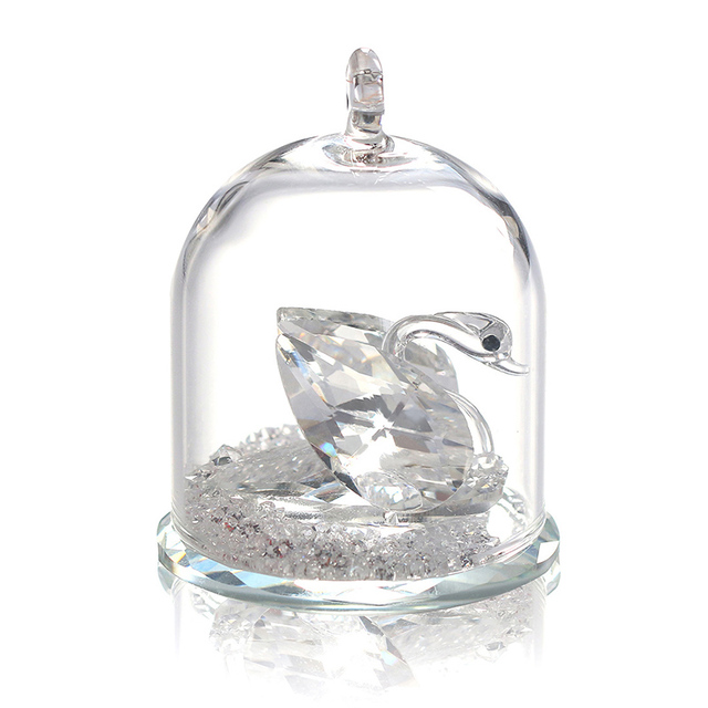 FANTASY 1pc Vintage Swan And Enchanted Swan In Terrarium And Diamond With  Glass Cover Festival Souvenir