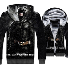 Batman & Cat Women Punk Style 3D Hoodies 2019 Winter The Dark Knight Rises Men Warm Sweatshirt Zipper Jackets Casual Thick Coats