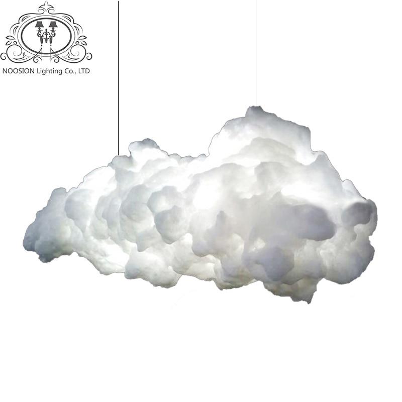NOOSION LED Wolke Pendelleuchten Wohnzimmer Caf Nordic Industrie Eisen Lampe Lampadari Moderni Eine Sospensione