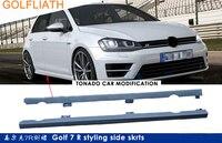 GOLFLIATH R Стиль Неокрашенный ABS Гоночная машина bodykit сторона юбки для Volkswagen VW Golf 7 MK7 2014 2015 2016