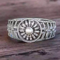 Luxury Jewelry Pearl Bangle 925 Sterling Silver Pearl Watch Bracelet for Fashion Lady Full CZ Zircon Bracelet & Bangle Hollow