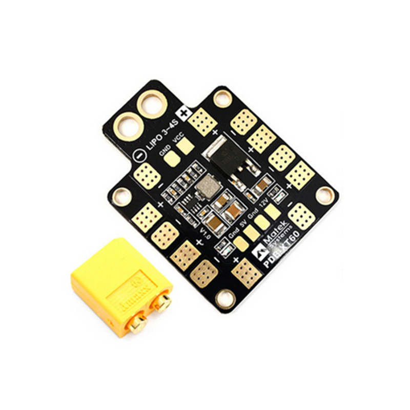 Matek Systems PDB XT60 W/ BEC 5V & 12V 2oz Copper For RC Helicopter Quadcopter Muliticopter Drone Toys matek v3 1 mini power power distribution board pdb with bec 5v & 12v for quadcopter multicopter