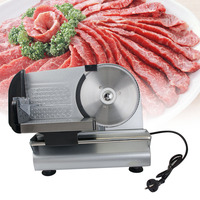 7.5 Blade Electric Meat Slicer Mutton Roll Frozen Beef Cutter Lamb Vegetable Cutting Machine Stainless Steel Mincer 220V