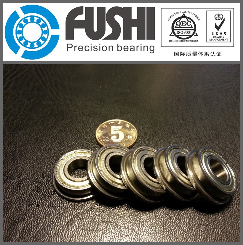 F686 ZZ Flange Bearing 6x13x5 mm ABEC-1 ( 10 PCS )  Flanged F686 Z ZZ  Ball Bearings F618/6ZZ 10pcs skate board bearing 686zz 686 2z 686 z 6x13x5 mm 2015 new coming shoe bearing abec3