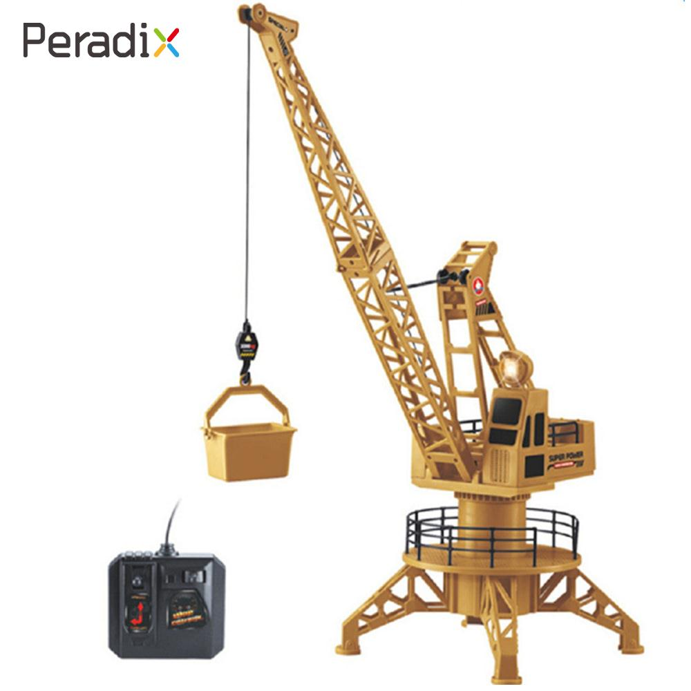 22X22X68cm Yellow Plastic Educational Beginning Ability Remote Control Truck Crane Toy Novelty Environmental Tower Crane Fashion