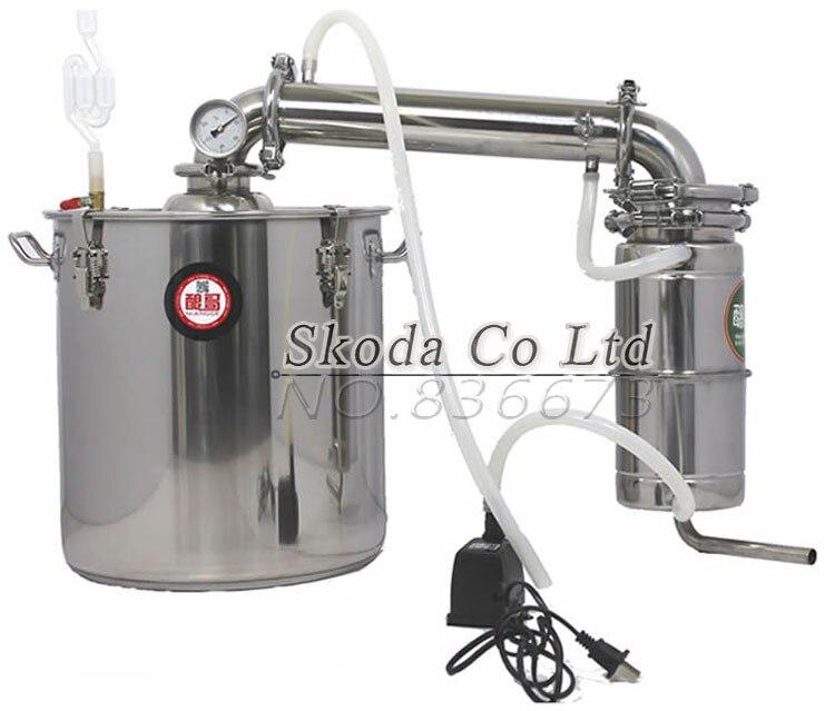 Dispositif de brassage à la maison de grande capacité 20L/30L/50L équipement de distillateur d'alcool d'acier inoxydable deux méthodes Instal