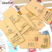 10шт/лот крафт-бумага конверты милый мультфильм ребенка ежедневно оставляют свадебные приглашения, подарочные конверты письмо канцелярские
