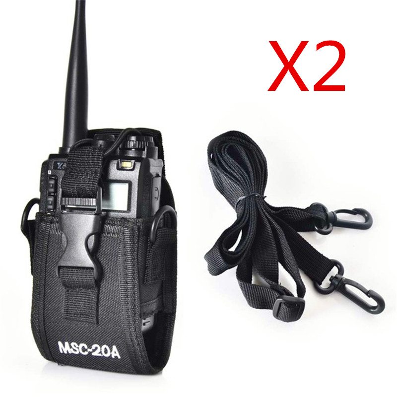 2 PCS Talkie Walkie CAS MSC-20A Sac de Poche de Support Pour Kenwood BaoFeng Radio Cas UV-5R UV-5RA UV-5RB UV-5RC UV-B5 UV-B6 BF-888S
