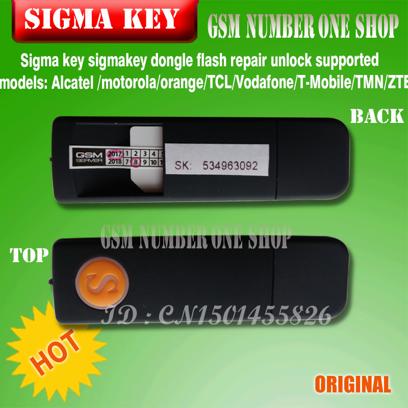 The Newest 100 original Sigma key sigmakey dongle for alcatel alcatel huawei flash repair unlock