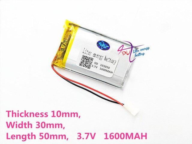 Liter energy battery 103050 3.7V lithium battery early 103048 1600mAh headlight GPS navigator general polymer batteries