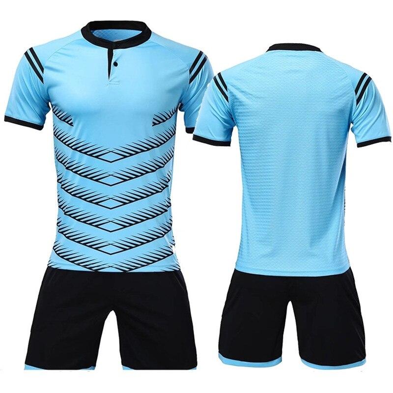 2018 nuevo poliéster hombres camisetas de fútbol conjunto en blanco equipo  de fútbol entrenamiento botón rápido 076146ae36fad