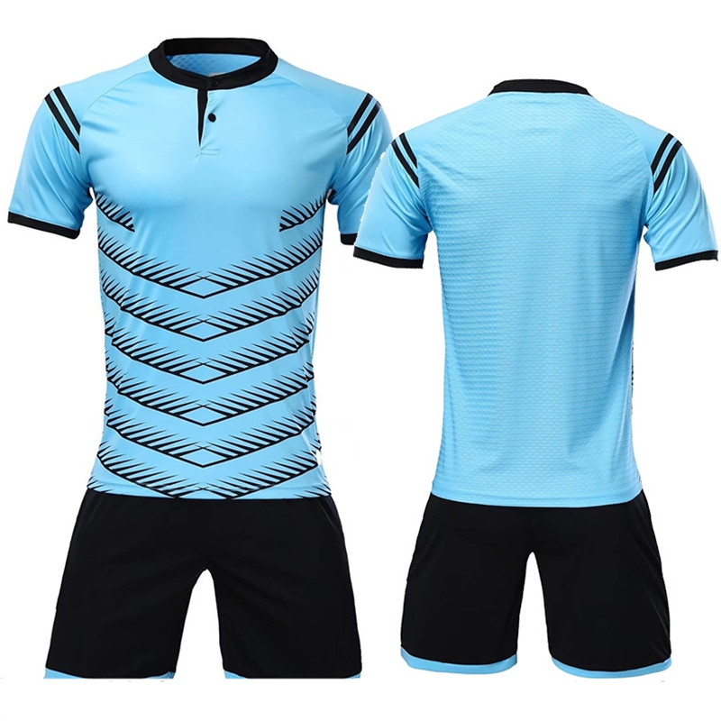 reputable site 240c1 92e57 US $14.19 45% OFF|2018 new DIY polyester men football jerseys set blank  soccer team training suits button quick dry short football uniforms  design-in ...