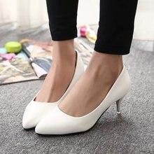 4183ff8fa المرأة اللباس أحذية الزفاف أحذية بيضاء أحذية الزفاف للسيدات الربيع والخريف  قارب الأحذية ميد الكعب عادي