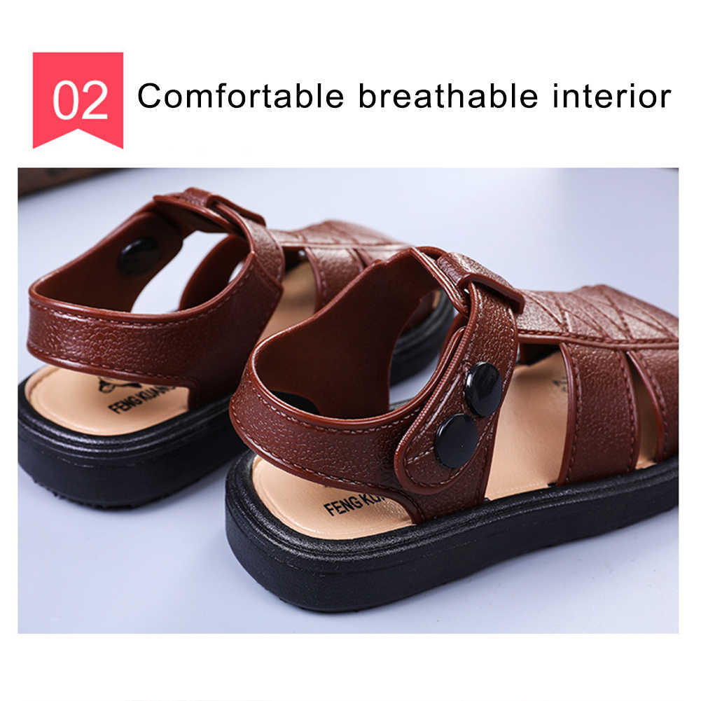 Kids Boys Casual Closed-Toe Sandals Summer Breathable Antiskid Prewalker Shoes Beach Sandal Fashion Toddler Sport Sandals
