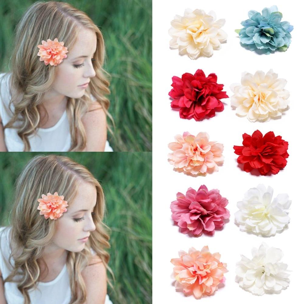 us $0.7 53% off|m mism 2 pcs fascinator boho womens flower hairpins bridal princess wedding hair accessories headwear girls hair clip barettes-in