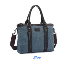 Man Casual Vintage Canvas Bags Large capacity Briefcase Messenger Bags Free Shipping